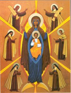 Mary and Carmelite Saints
