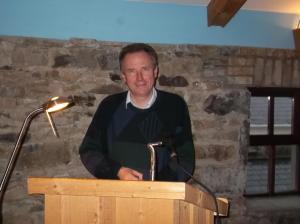 Fr. Matt Blake giving a talk