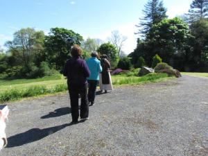 Friends of Carmel walking the grounds of Holy Hill Hermitage